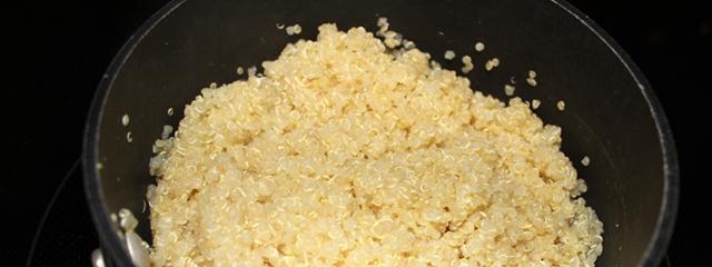 Cooked quinoa.