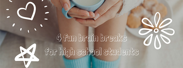 4 Brain Breaks for High School Students |  When your teenager starts learning about complicated topics, brain breaks can help them focus and can even enhance the learning experience. | A teen girl takes a brain break with a cup of milk.