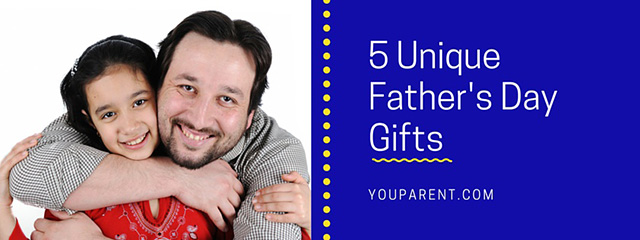 5 Unique Father's Day Gifts | This Father's Day let your kids get Dad a unique gift or take a family outing that speaks to how special he is. | A father hugs his daughter.
