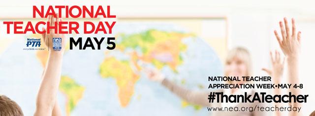 9 Ways to Show Your Teacher Appreciation | National Teacher Day May 5 | National Teacher Appreciation Week May 4-8 | #ThankATeacher