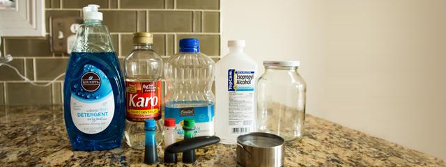 Lista de ingredientes para el experimento