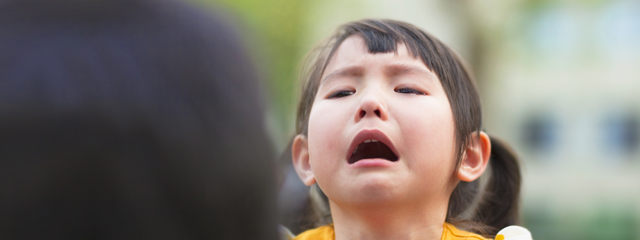 Addressing Your Child's Physical and Emotional Delays | Are you worried that your child isn't speaking, playing with other children, or growing and developing in the same way as other children the same age? If so, your child may have a developmental delay. Read on for how you can help. | The image shows a young child crying in public.