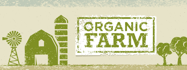 "The Dirty Dozen: Where Organic Matters | An image with a barn, windmill, silo, and text reading ""organic farm"""