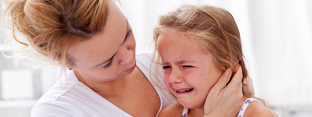 Why It's Okay to Cry   Children cry from the moment they are born, which is a good thing. They convey many emotions through crying. Learn how to understand your child's tears and why it's okay to cry.   A mother comforts her crying daughter.