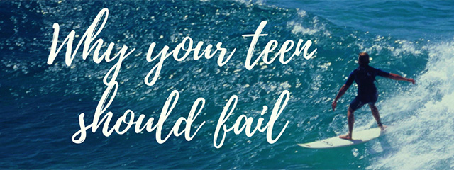 Why your teen should fail | A teen surfing a wave.