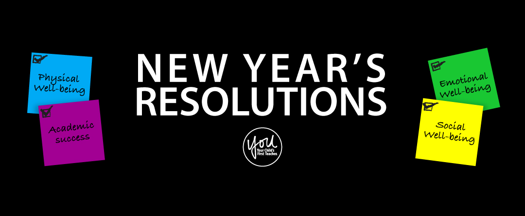 New Year's Resolutions: social well-being, emotional well-being, physical health, academic success