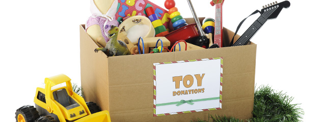Seeking Santa Claus: Help for Christmas | If you struggle to afford Christmas presents for your kids, register for these Christmas assistance programs in October or November. | A box of toy donations awaits their giftees!
